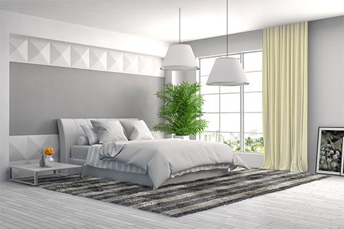 Tkanina zaciemniająca blackout beige137 zasłony w sypialni