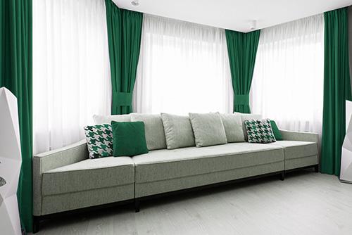 tkanina blackout green457 zasłony do salonu