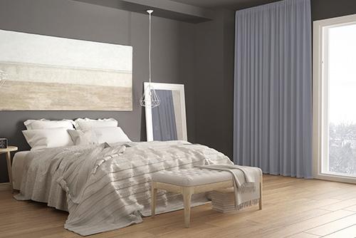 tkanina blackout grey405 sypialnia