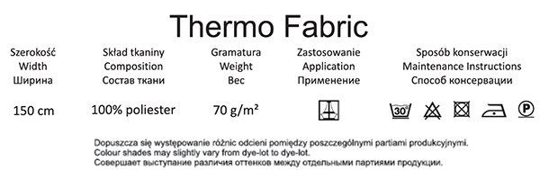 info thermo heat-insulating fabric